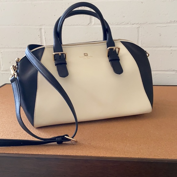 Kate Spade Large Satchel. Black and cream. Excellent condition.